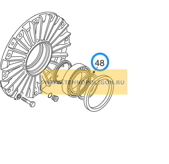 Шпиндельное кольцо 15502705